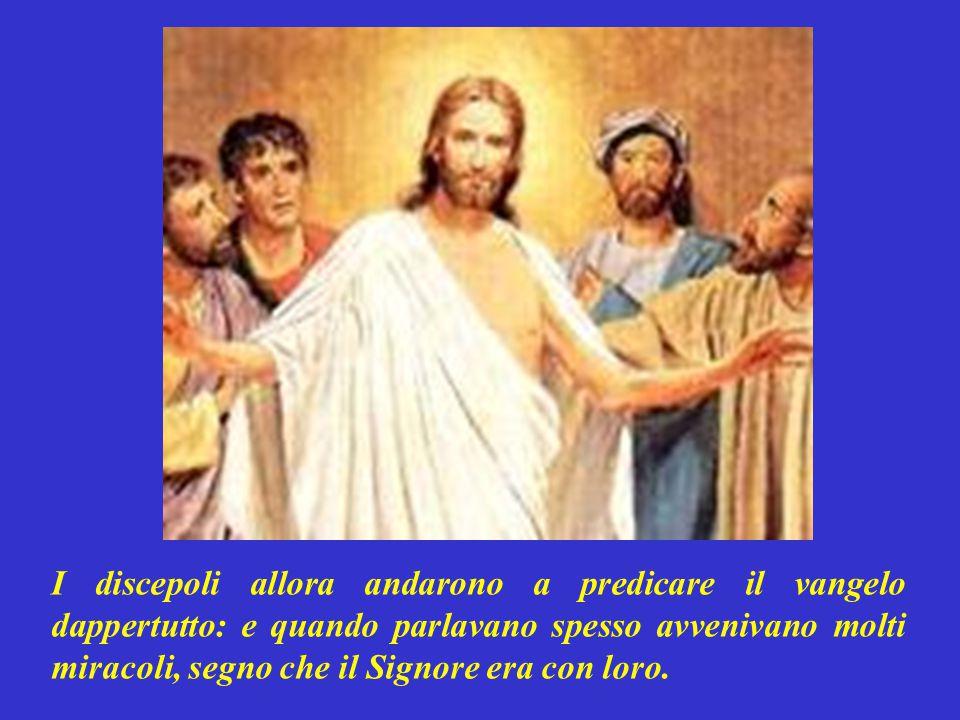 Detto questo, Gesù il Signore fu alzato in CIELO: e prese posto sul suo trono.