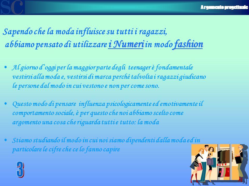 Argomento progettuale Sapendo che la moda influisce su tutti i ragazzi, i Numerifashion abbiamo pensato di utilizzare i Numeri in modo fashion Al gior