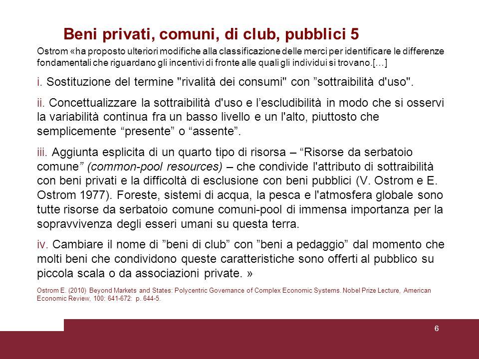 Social Dilemma 6 Cioè: 1.Se c'è un solo utente il suo vantaggio individuale sarà superiore al vantaggio sociale.