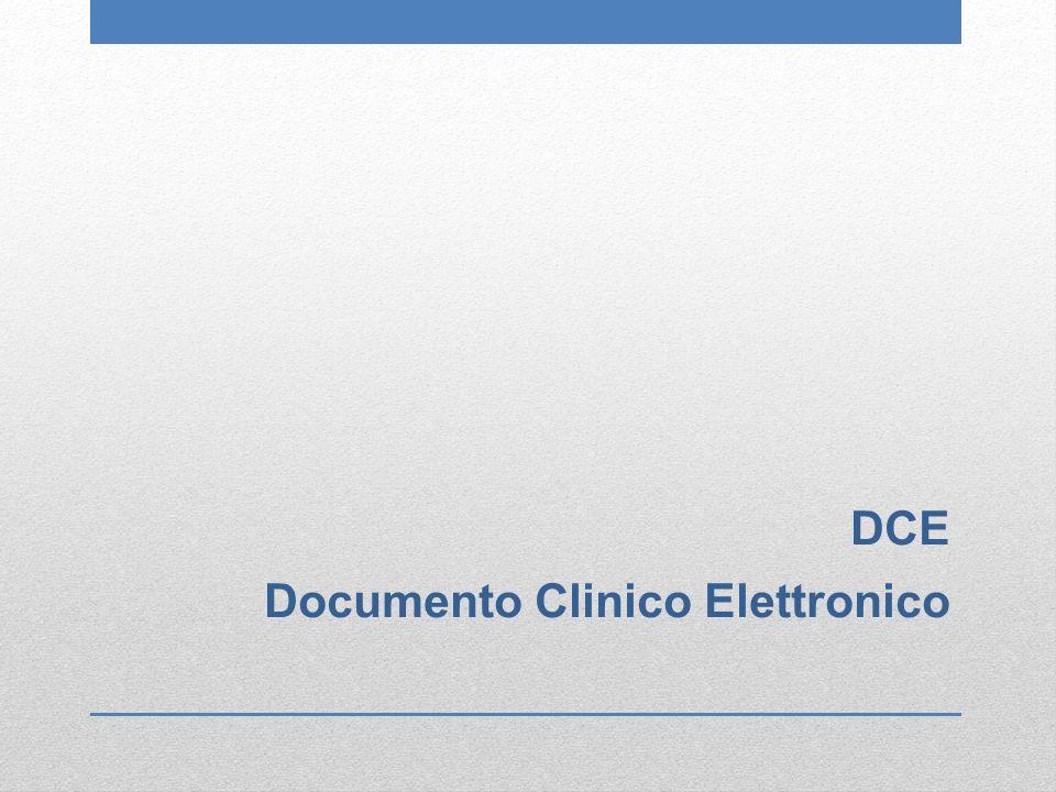 Documento Informatico La rappresentazione informatica di atti, fatti o dati giuridicamente rilevanti; (DL 82-2005 CAD art.1 co.1 lett.p) Documento Clinico Elettronico Documento Informatico connesso ad un Paziente.