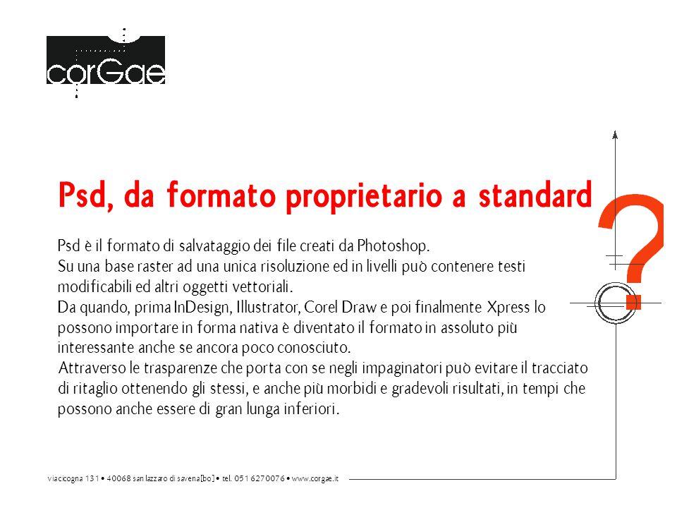 Psd, da formato proprietario a standard Psd è il formato di salvataggio dei file creati da Photoshop.