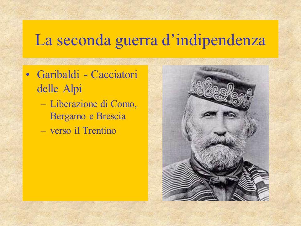 La seconda guerra d'indipendenza 24 giugno: sconfitte austriache (Francesco Giuseppe) –Solferino (dai Francesi) –S.