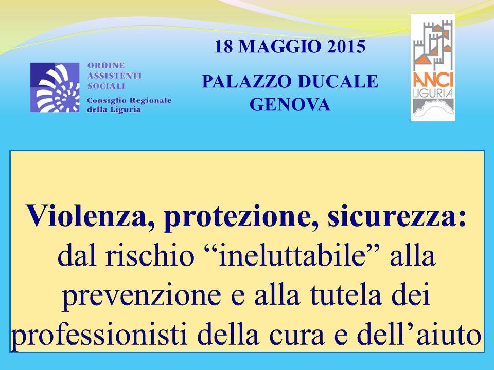 18 MAGGIO 2015 PALAZZO DUCALE GENOVA