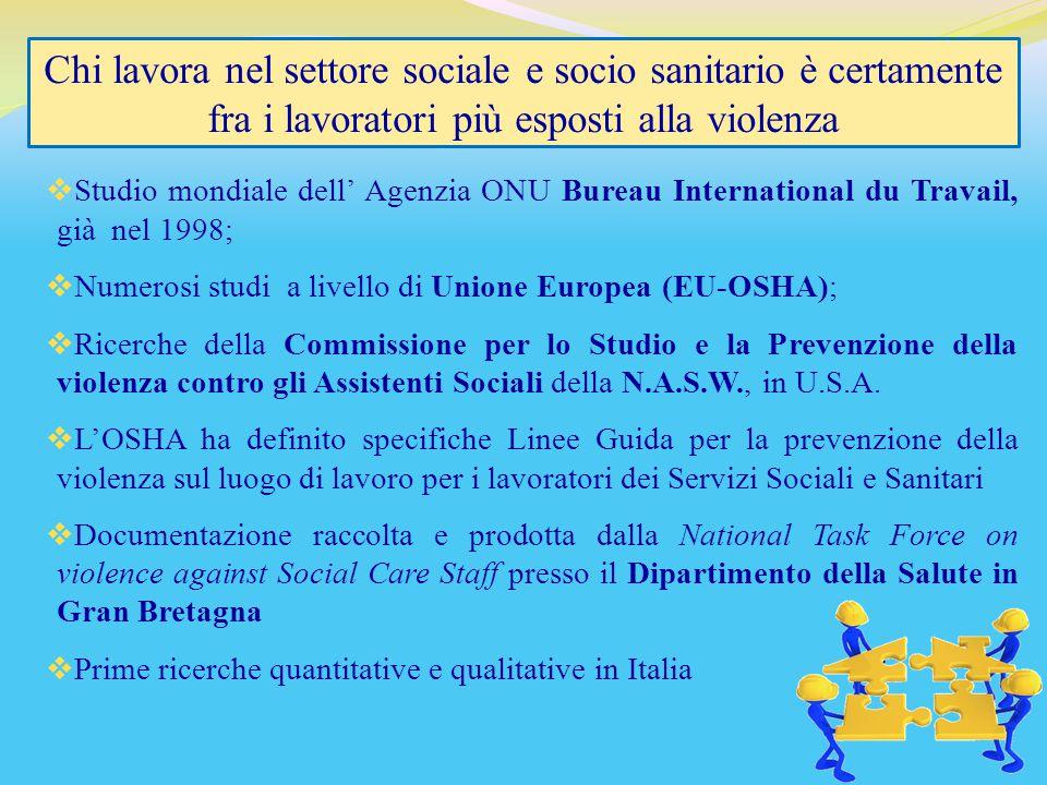  Studio mondiale dell' Agenzia ONU Bureau International du Travail, già nel 1998;  Numerosi studi a livello di Unione Europea (EU-OSHA);  Ricerche