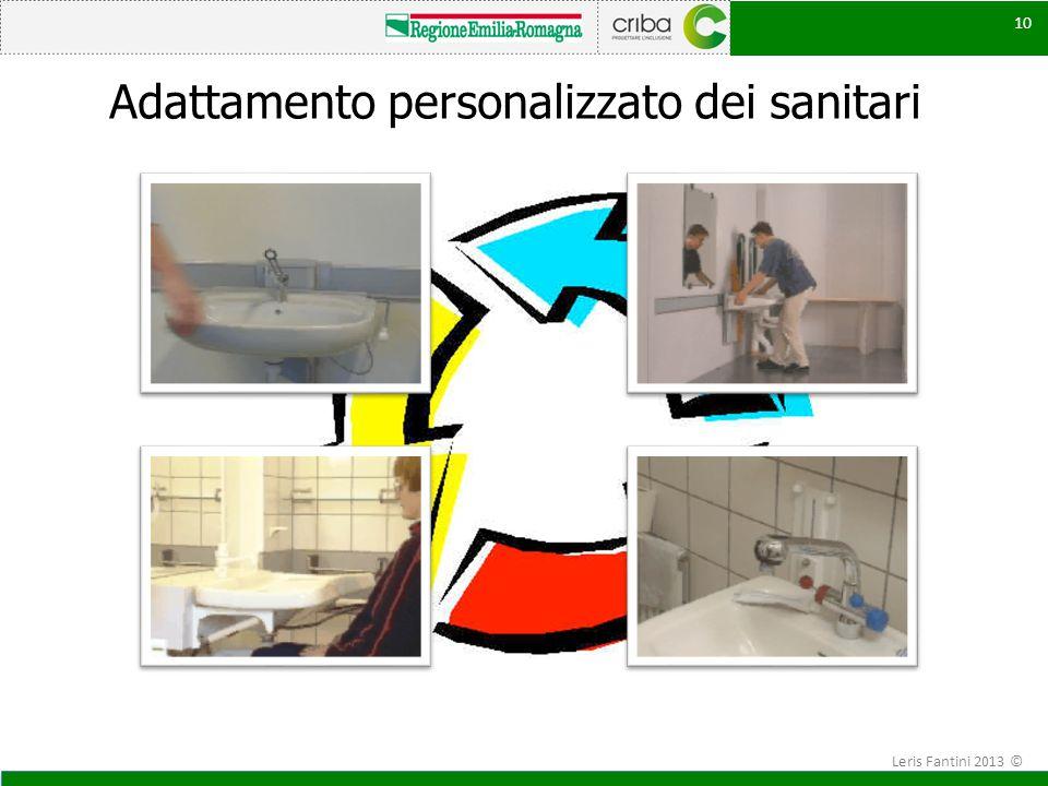 Adattamento personalizzato dei sanitari 10 Leris Fantini 2013 ©