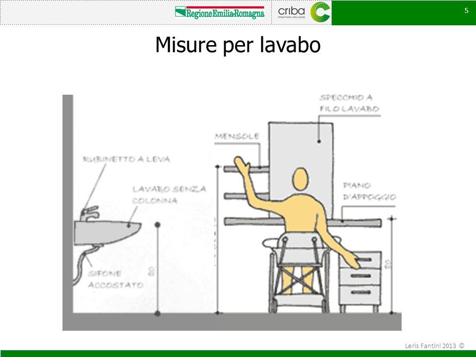 5 Misure per lavabo 5 Leris Fantini 2013 ©