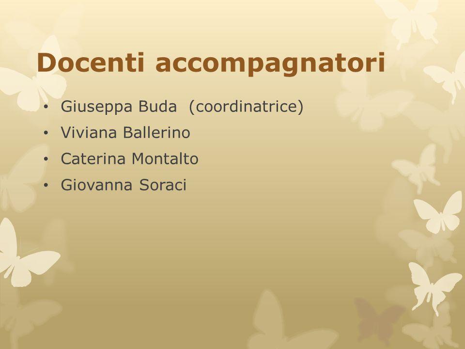 Docenti accompagnatori Giuseppa Buda (coordinatrice) Viviana Ballerino Caterina Montalto Giovanna Soraci