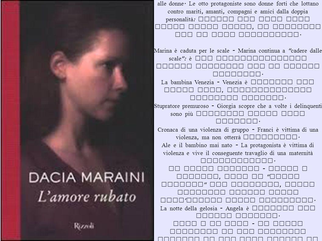 Il romanzo racconta otto storie che hanno come tema la violenza fisica e psichica alle donne.