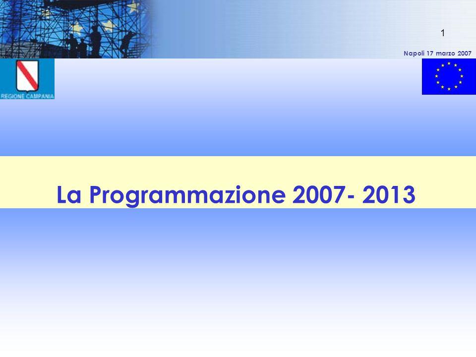 Napoli 17 marzo 2007 1 La Programmazione 2007- 2013