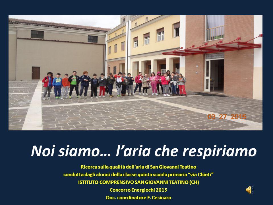 """Noi siamo… l'aria che respiriamo Ricerca sulla qualità dell'aria di San Giovanni Teatino condotta dagli alunni della classe quinta scuola primaria """"vi"""
