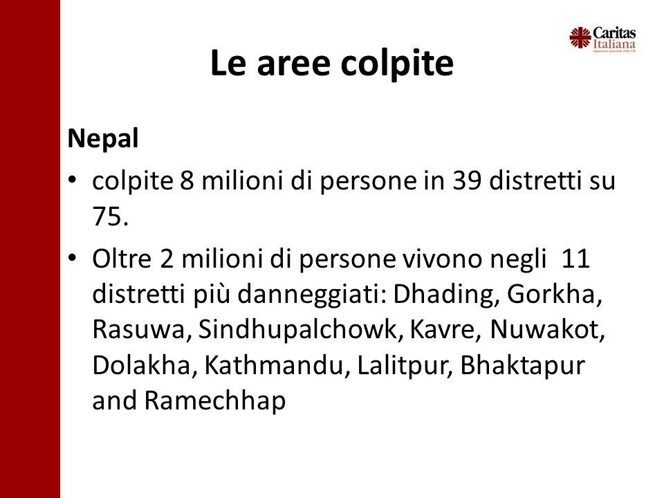 Nepal colpite 8 milioni di persone in 39 distretti su 75.