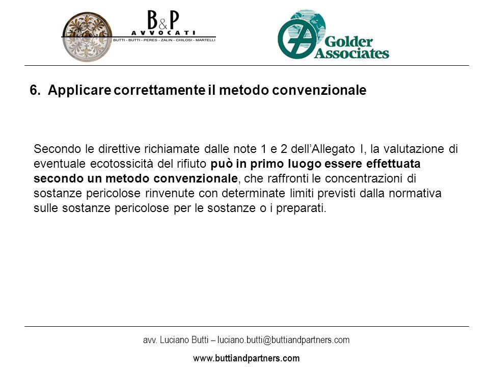 avv. Luciano Butti – luciano.butti@buttiandpartners.com www.buttiandpartners.com 6.