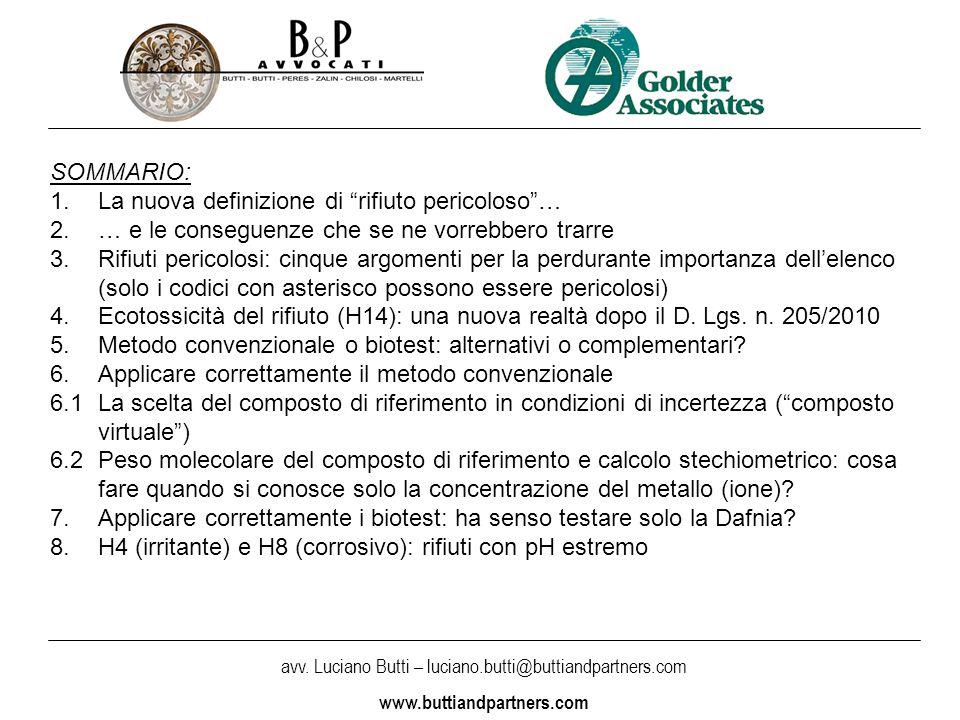 avv.Luciano Butti – luciano.butti@buttiandpartners.com www.buttiandpartners.com Art.