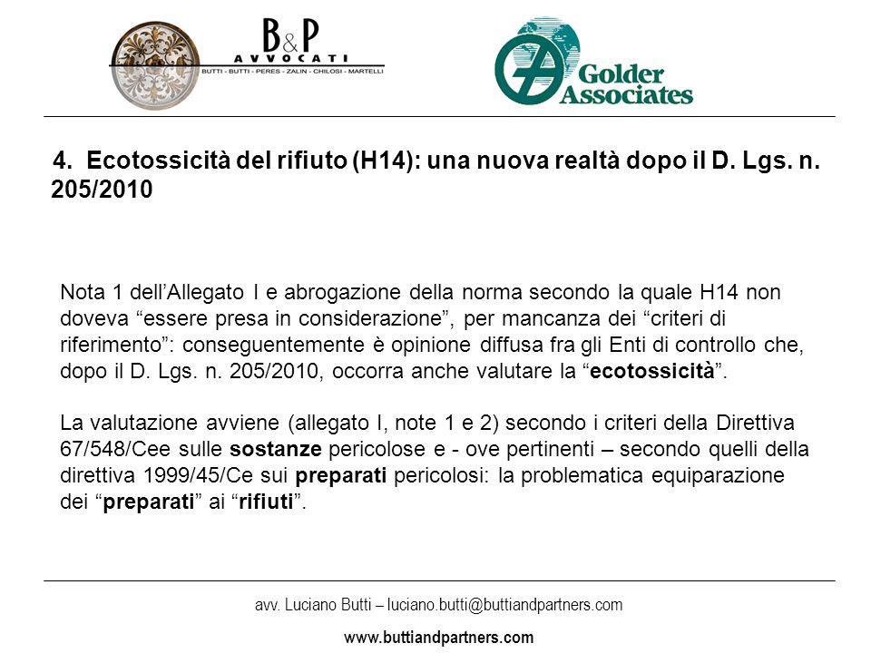 avv. Luciano Butti – luciano.butti@buttiandpartners.com www.buttiandpartners.com 4.