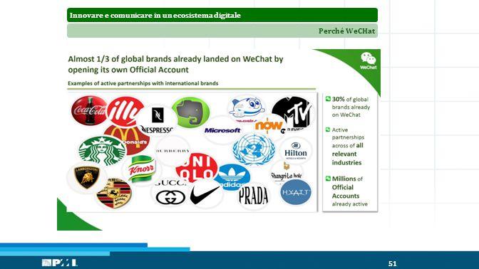 Innovare e comunicare in un ecosistema digitalePerché WeCHat 51