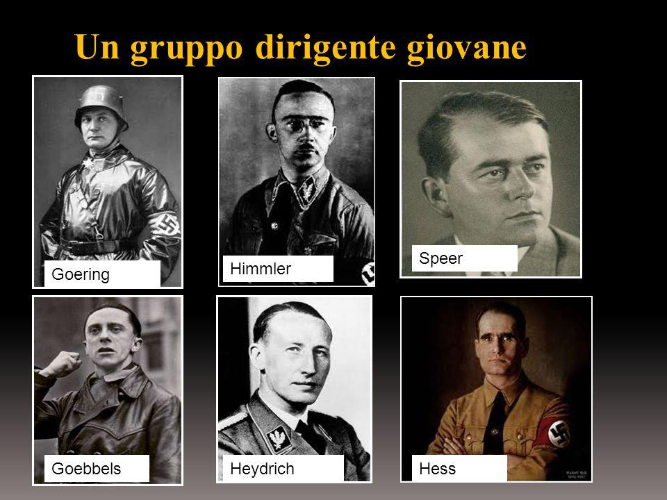 Un gruppo dirigente giovane Goering Himmler Speer GoebbelsHeydrichHess