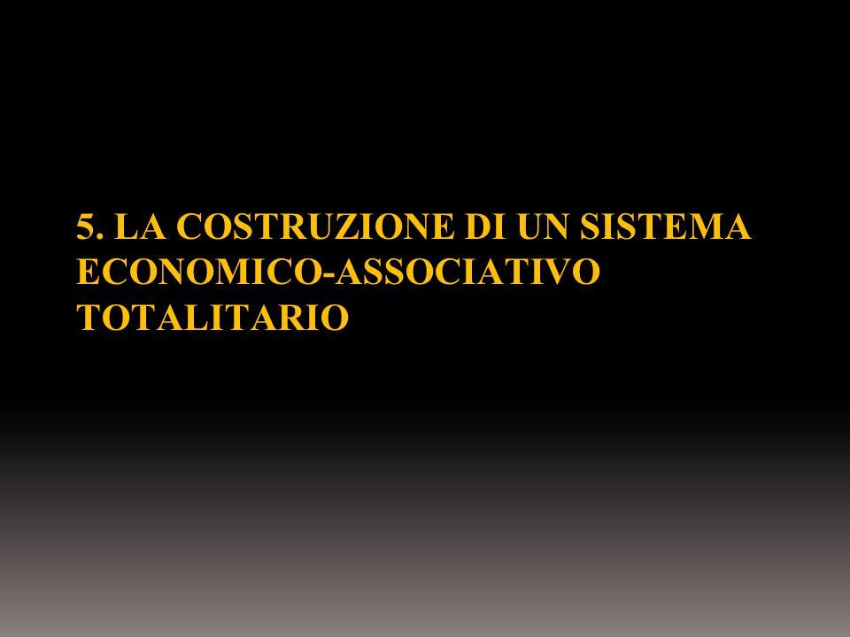 5. LA COSTRUZIONE DI UN SISTEMA ECONOMICO-ASSOCIATIVO TOTALITARIO