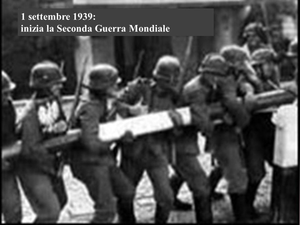 1 settembre 1939: inizia la Seconda Guerra Mondiale
