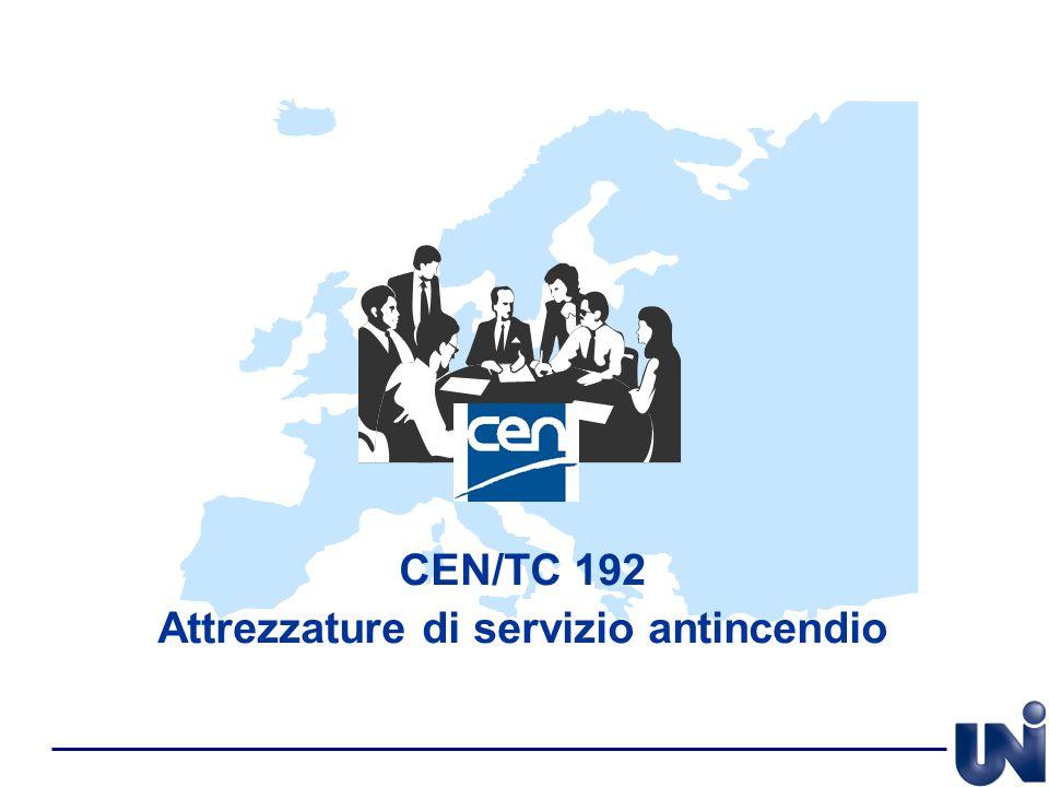 CEN/TC 192 Attrezzature di servizio antincendio