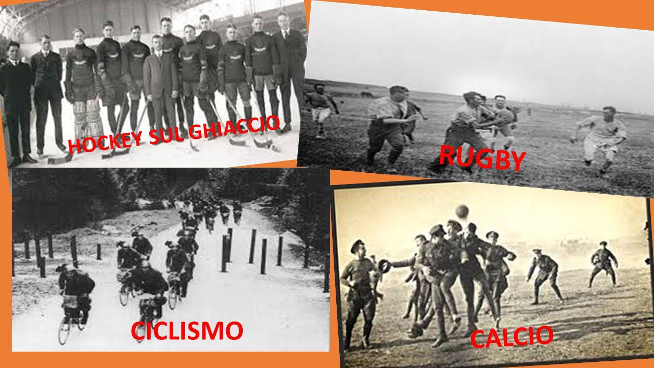 HOCKEY SUL GHIACCIO CALCIO RUGBY CICLISMO