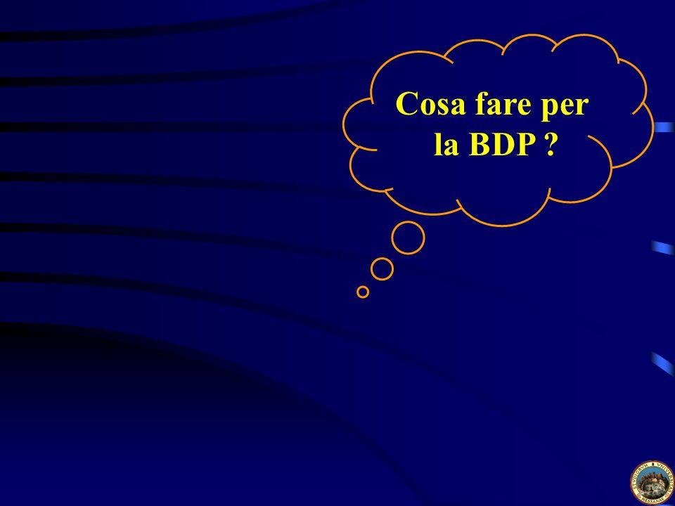 Cosa fare per la BDP ?