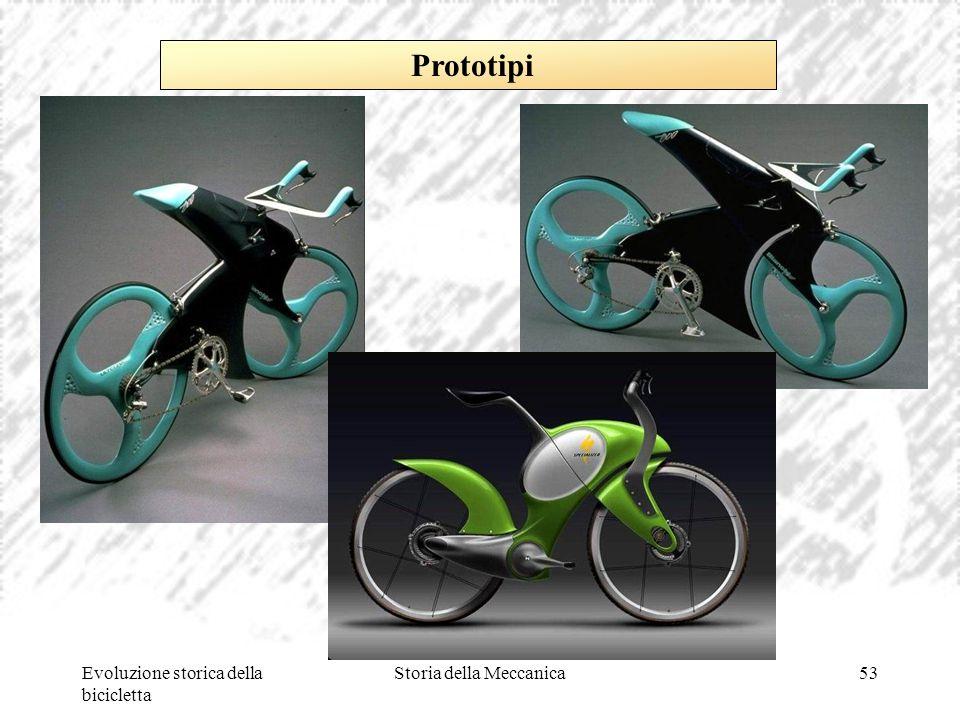 Evoluzione storica della bicicletta Storia della Meccanica53 Prototipi