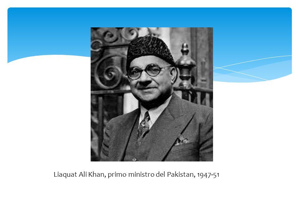 Liaquat Ali Khan, primo ministro del Pakistan, 1947-51