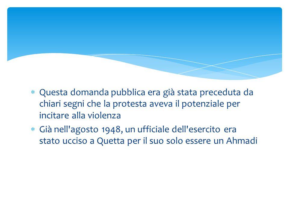  Questa domanda pubblica era già stata preceduta da chiari segni che la protesta aveva il potenziale per incitare alla violenza  Già nell'agosto 194