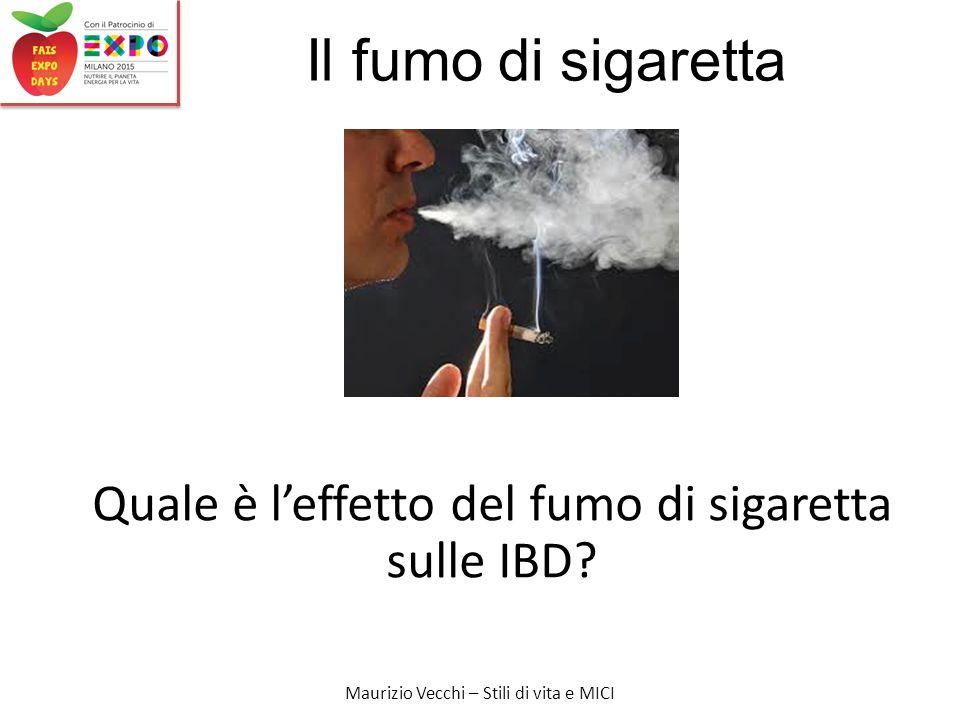 Maurizio Vecchi – Stili di vita e MICI Il fumo di sigaretta Quale è l'effetto del fumo di sigaretta sulle IBD?