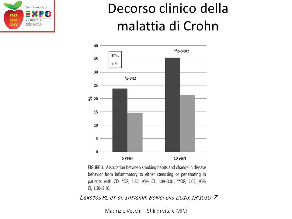 Maurizio Vecchi – Stili di vita e MICI Lakatos PL et al.