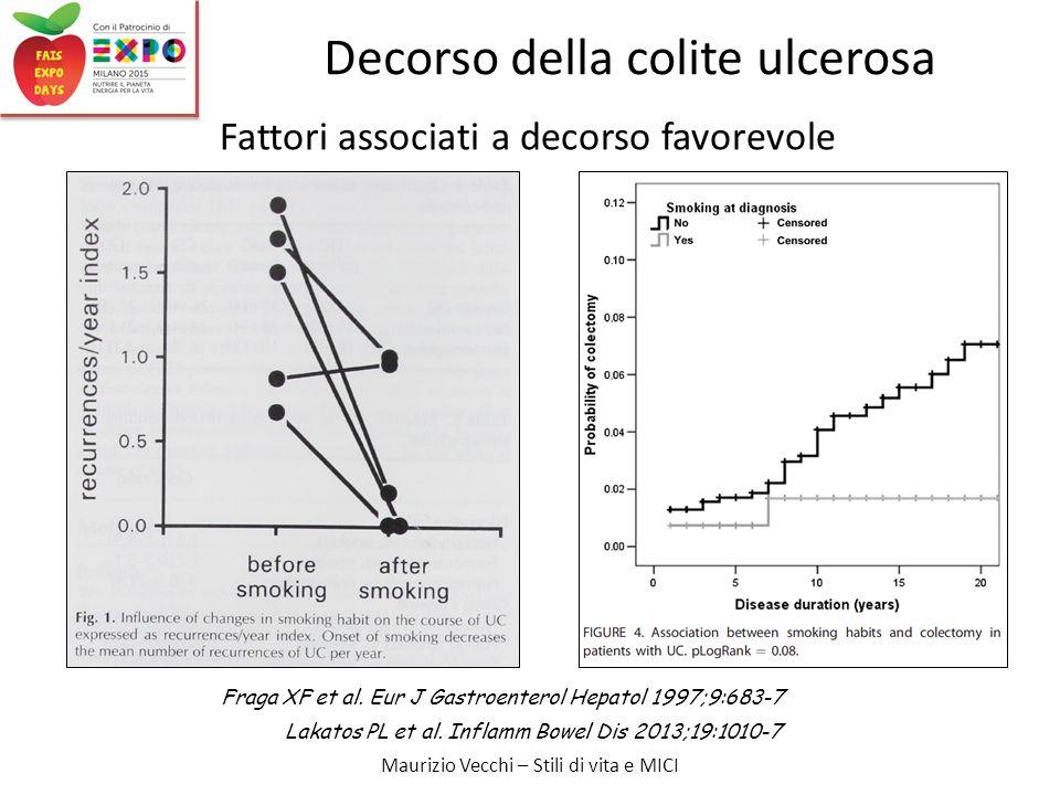 Maurizio Vecchi – Stili di vita e MICI Decorso della colite ulcerosa Fraga XF et al.