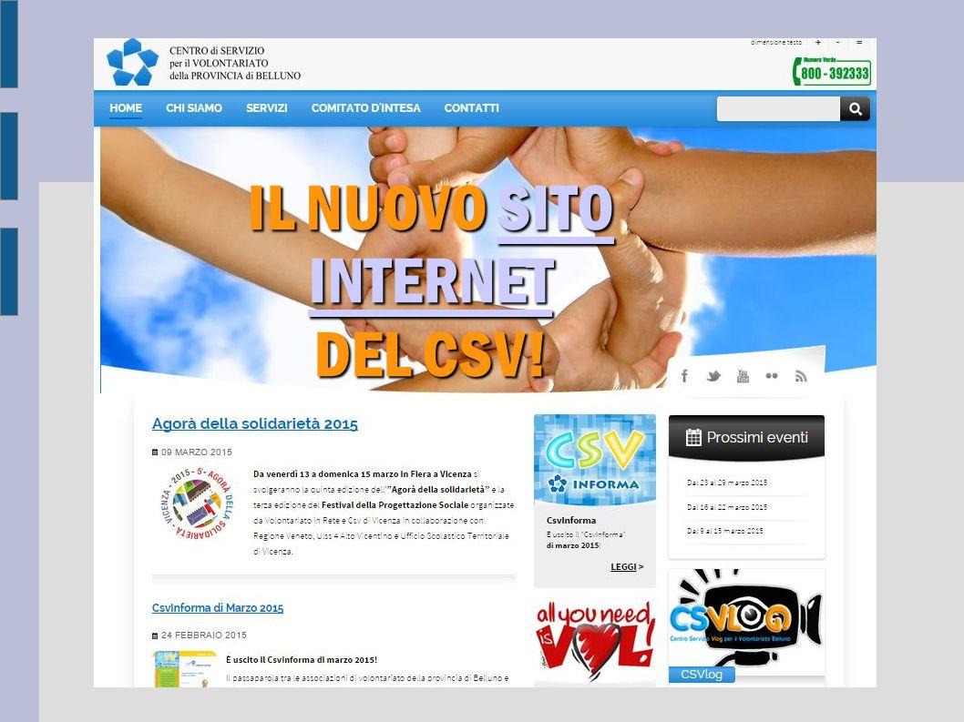 IL NUOVO SITO INTERNET SITO INTERNETSITO INTERNET DEL CSV!