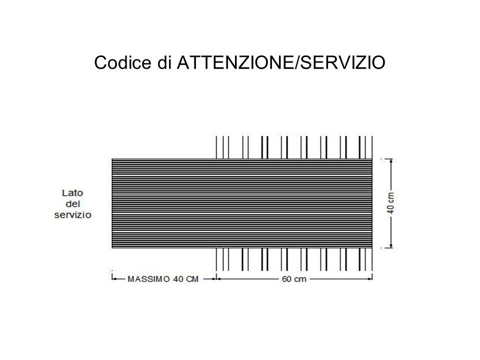 Codice di ATTENZIONE/SERVIZIO