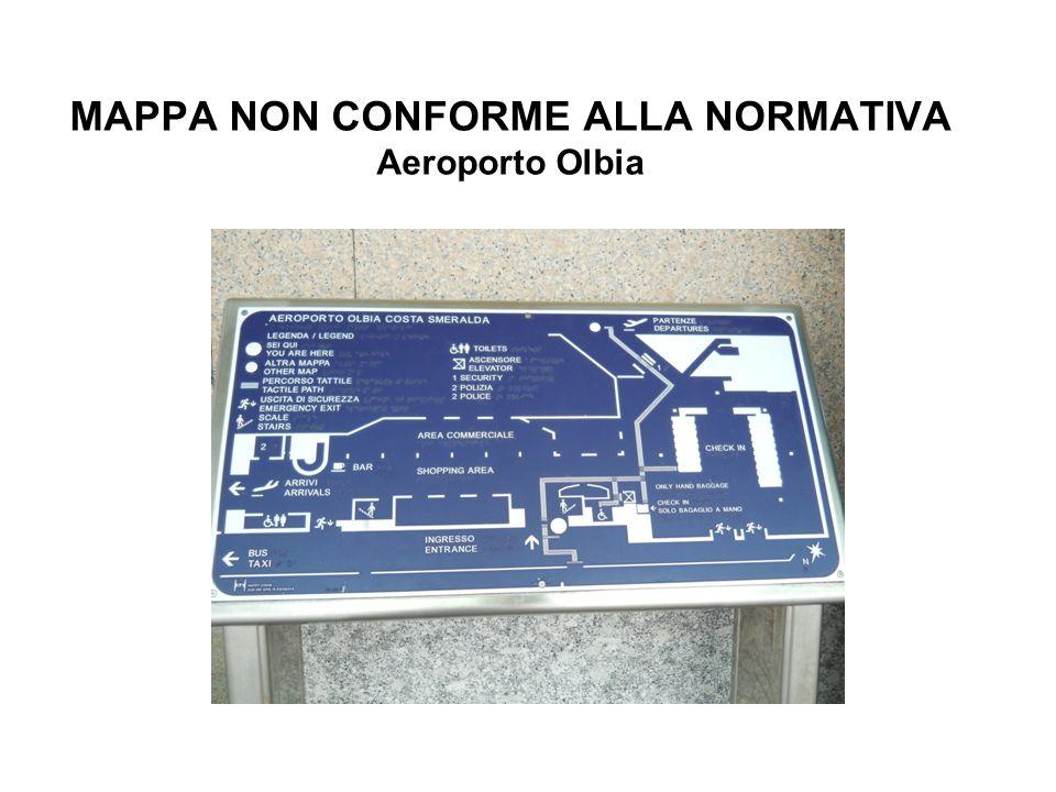 MAPPA NON CONFORME ALLA NORMATIVA Aeroporto Olbia