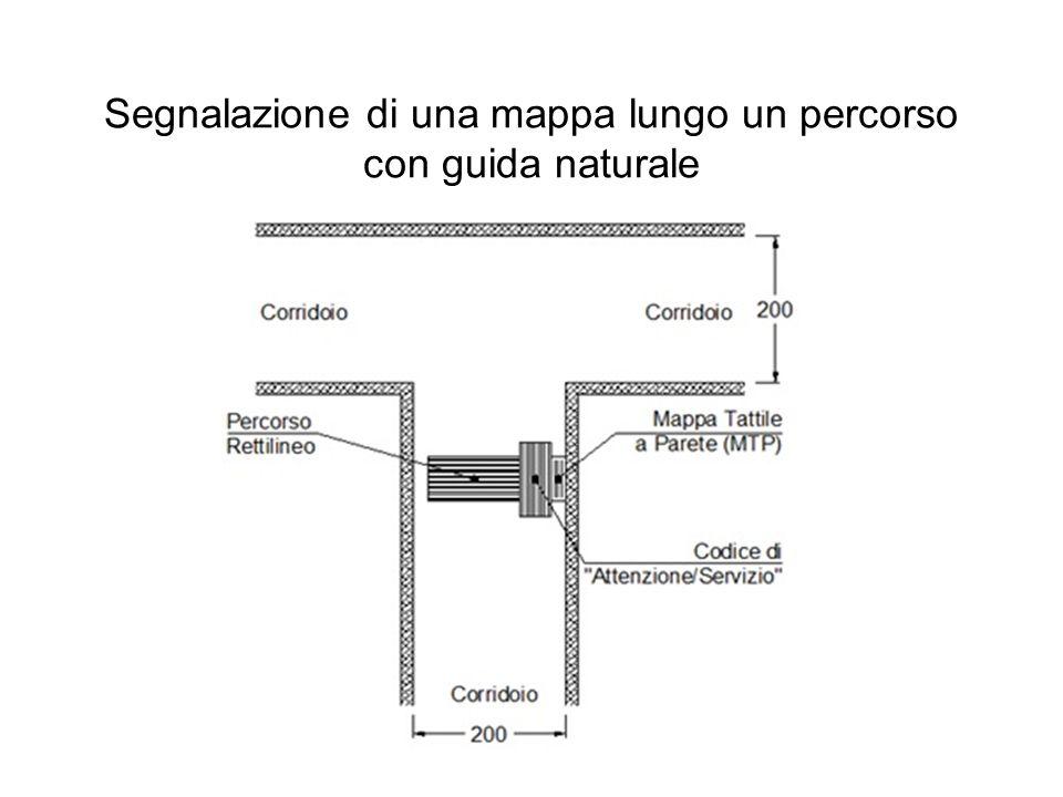 Segnalazione di una mappa lungo un percorso con guida naturale