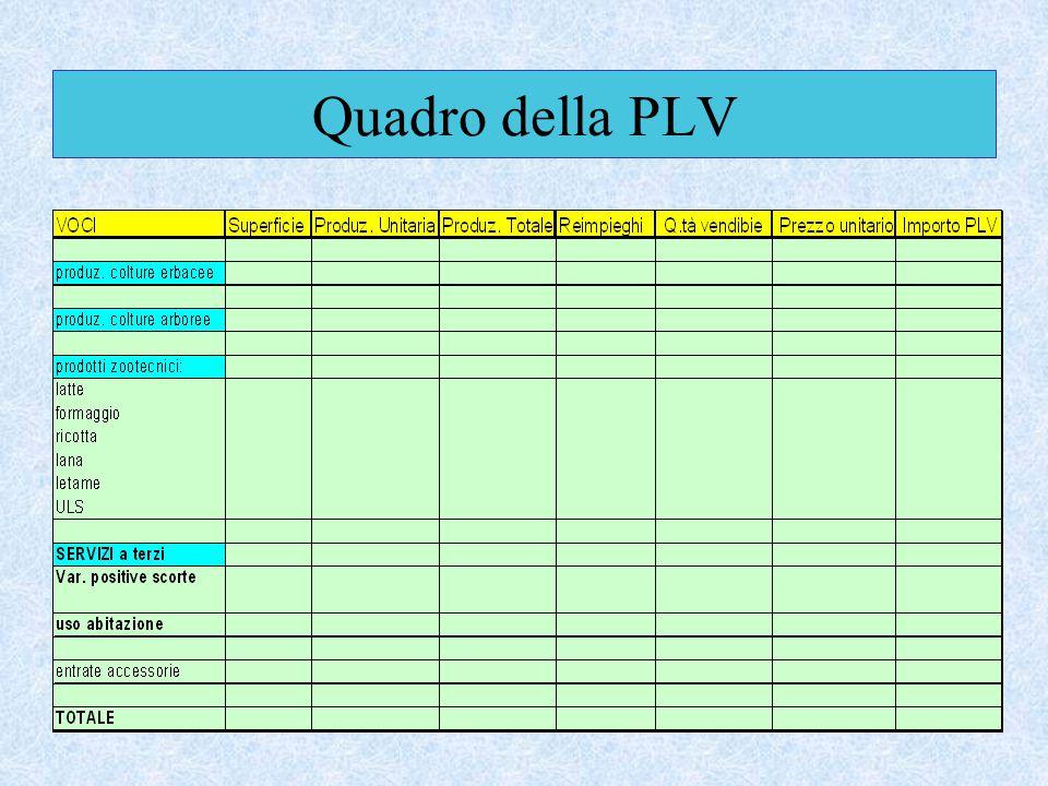 Quadro della PLV