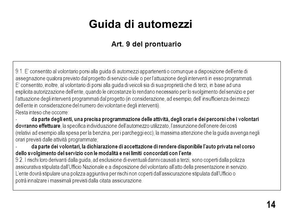 Guida di automezzi 9.1.
