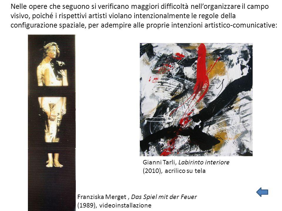 Franziska Merget, Das Spiel mit der Feuer (1989), videoinstallazione Nelle opere che seguono si verificano maggiori difficoltà nell'organizzare il cam