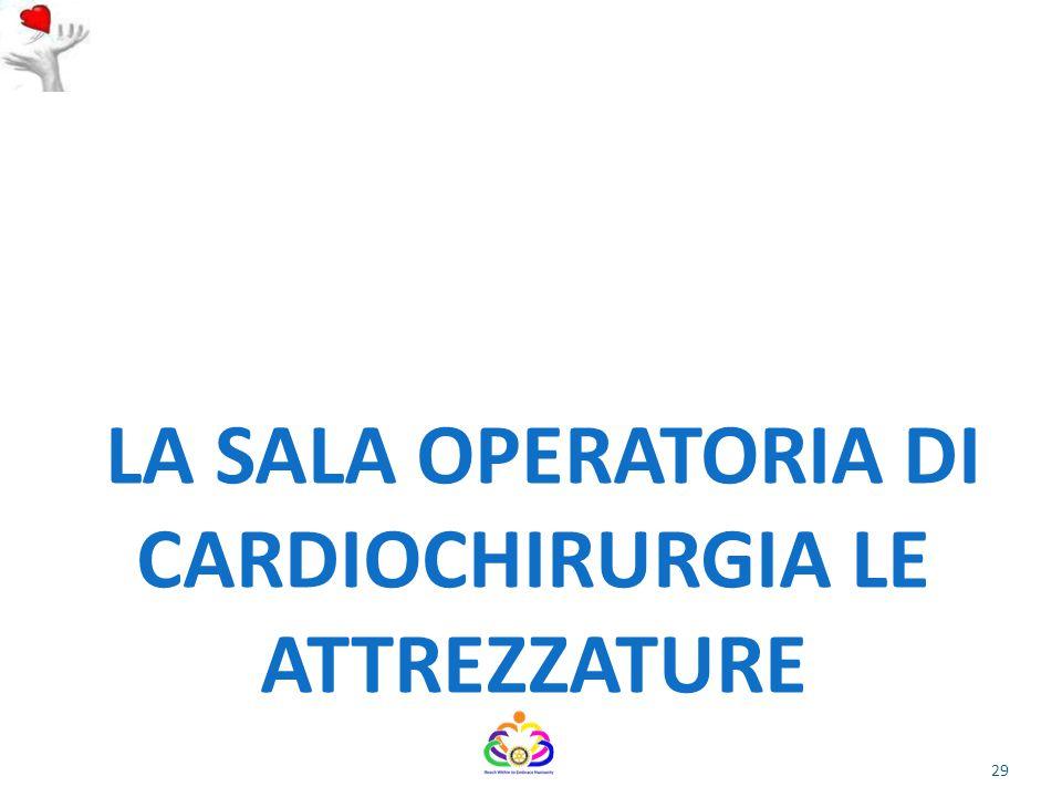 LA SALA OPERATORIA DI CARDIOCHIRURGIA LE ATTREZZATURE 29