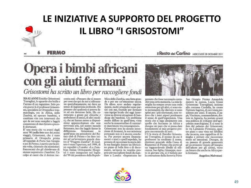 LE INIZIATIVE A SUPPORTO DEL PROGETTO IL LIBRO I GRISOSTOMI 49