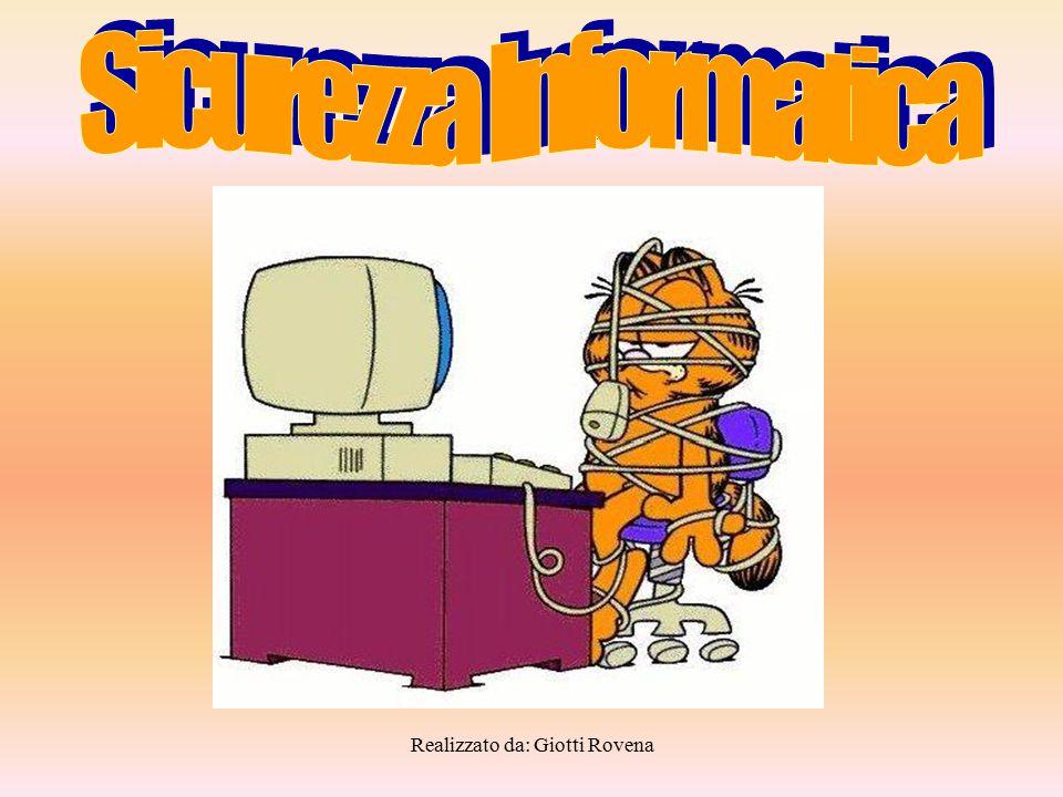 Realizzato da: Giotti Rovena furtox Temperatura alta o bassaxxx Guasto hardwarex Errori softwarexx Deterioramento supporto di memoria x Errori dall'utentexx Accesso illegale alla retex Software dannosoxx Interruzione servizio Providerx Errori di trasmissionex Infiltrazione di retex