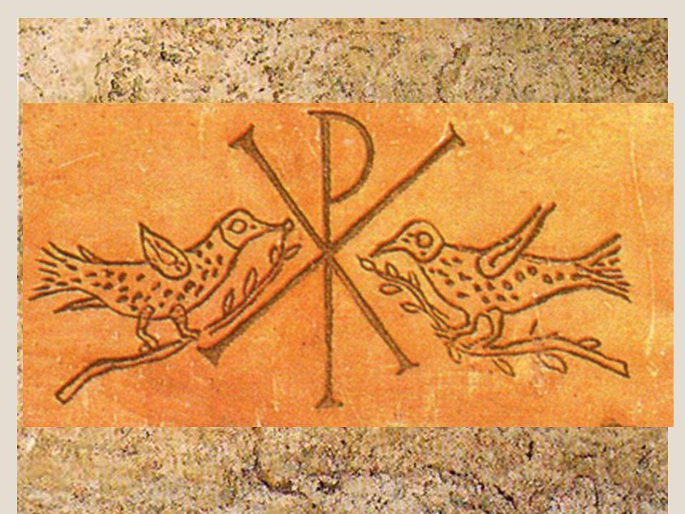 L'uso dei simboli Diverse sono le immagini rappresentate nei cimiteri; la decorazione delle catacombe, in genere ad affresco, presenta soggetti, tecni