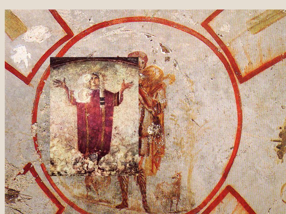 Le pitture nelle catacombe Il buon pastore III sec., Tombe di Callisto Orante Tombe di Callisto