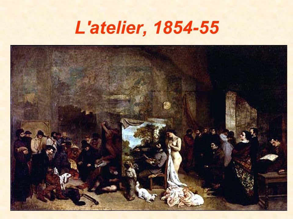 Nella tela «L'atelier» Gustave Courbet realizza un'allegoria del suo mestiere di pittore.