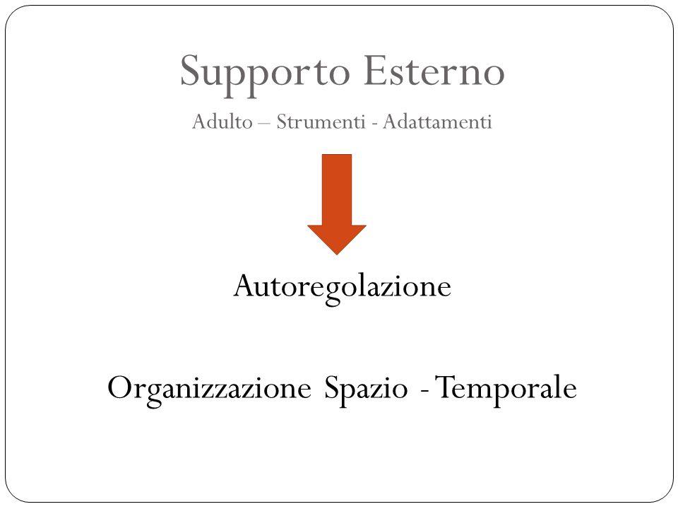 Supporto Esterno Adulto – Strumenti - Adattamenti Autoregolazione Organizzazione Spazio - Temporale