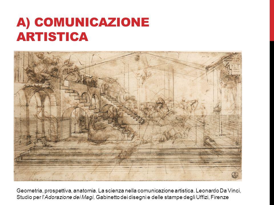 A) COMUNICAZIONE ARTISTICA Geometria, prospettiva, anatomia. La scienza nella comunicazione artistica. Leonardo Da Vinci, Studio per l'Adorazione dei