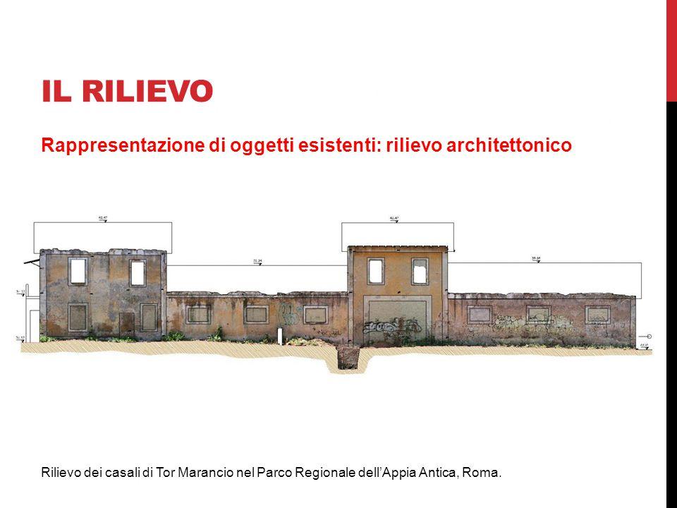 IL RILIEVO Rappresentazione di oggetti esistenti: rilievo architettonico Rilievo dei casali di Tor Marancio nel Parco Regionale dell'Appia Antica, Rom