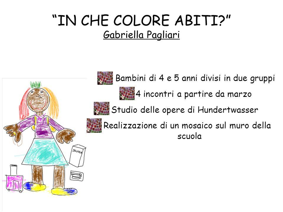 """""""IN CHE COLORE ABITI?"""" Gabriella Pagliari Bambini di 4 e 5 anni divisi in due gruppi 4 incontri a partire da marzo Studio delle opere di Hundertwasser"""