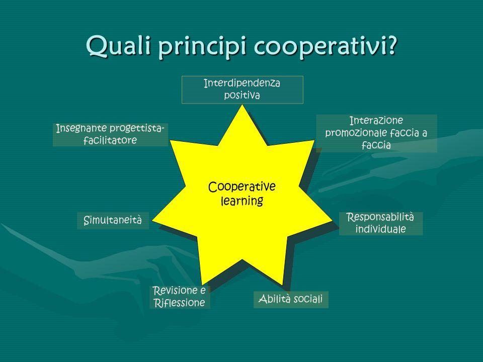Quali principi cooperativi?
