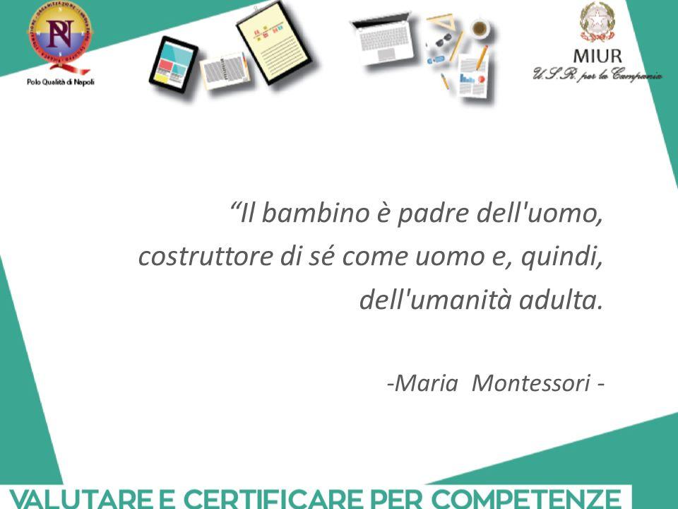"""""""Il bambino è padre dell'uomo, costruttore di sé come uomo e, quindi, dell'umanità adulta. -Maria Montessori -"""